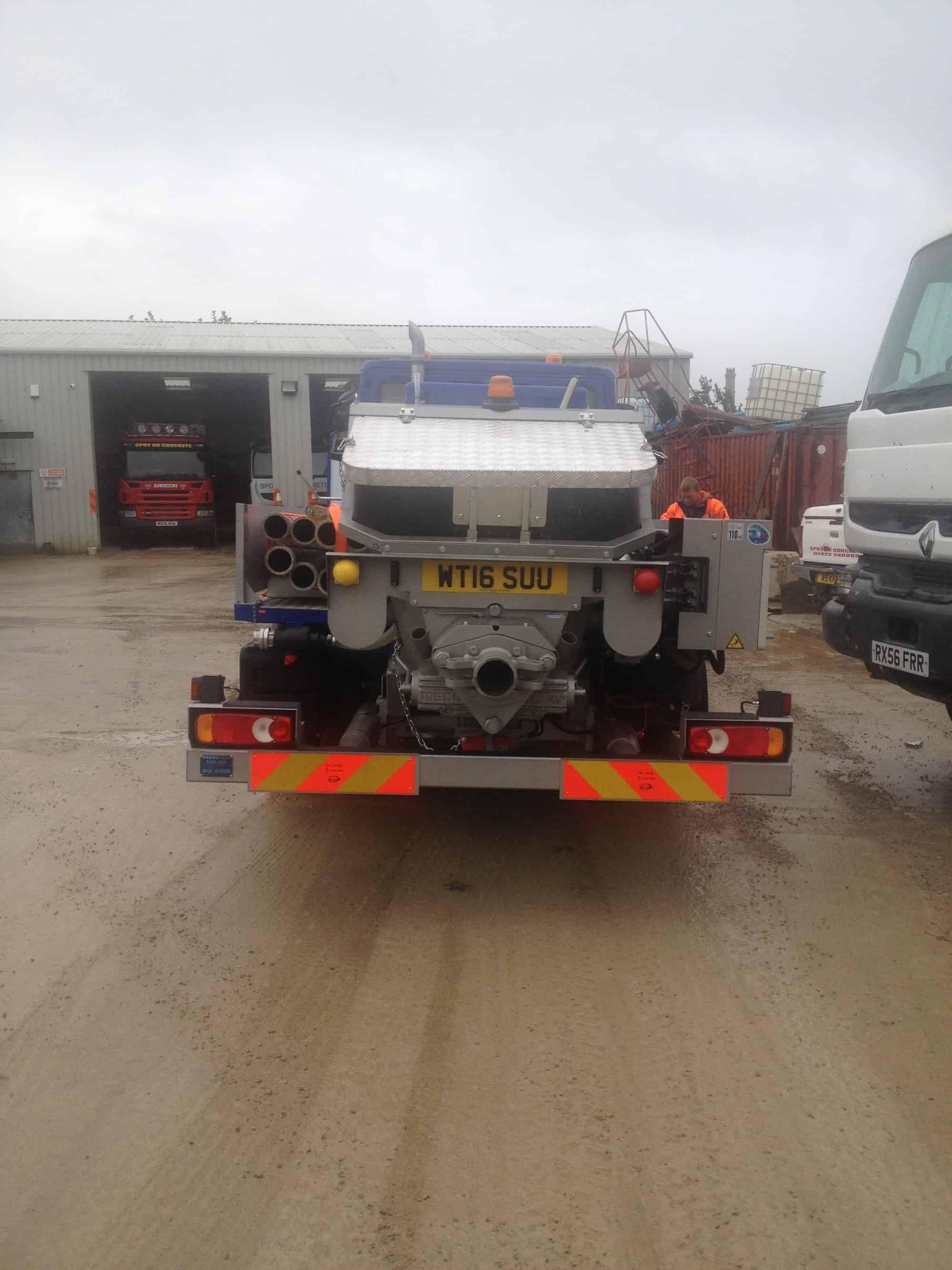 Concrete pumping vehicle leeds